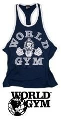 World Gym Tank Top men vintage navy
