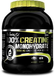 Biotech USA 100% Creatine Monohydrate - 500g Pulver Neutral